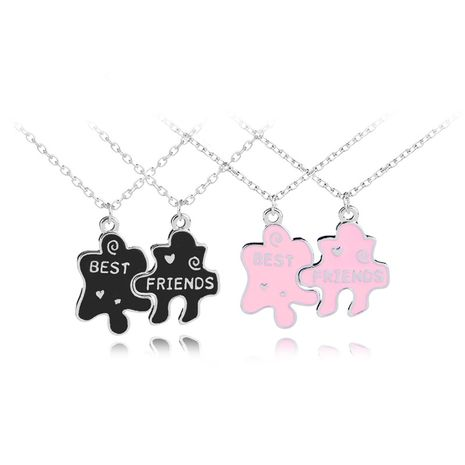 explosions chain geometric puzzle good friends necklace jewelry wholesale nihaojewelry NHMO229243's discount tags