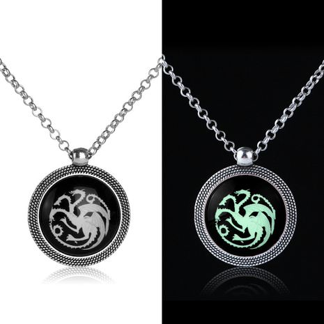 explode necklace fashion creative luminous necklace retro dragon pendant necklace clavicle chain wholesale nihaojewelry NHMO229249's discount tags