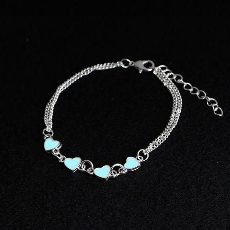 Nueva pulsera creativa corazón a corazón amor luminoso señoras tendencia pulseras joyería al por mayor nihaojewelry NHMO229255's discount tags