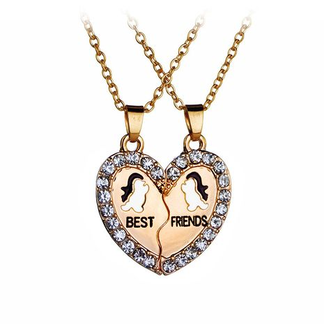 Explosion Necklace Suit Fashion Good Friends Loving Penguin Necklace wholesale nihaojewelry NHMO229257's discount tags