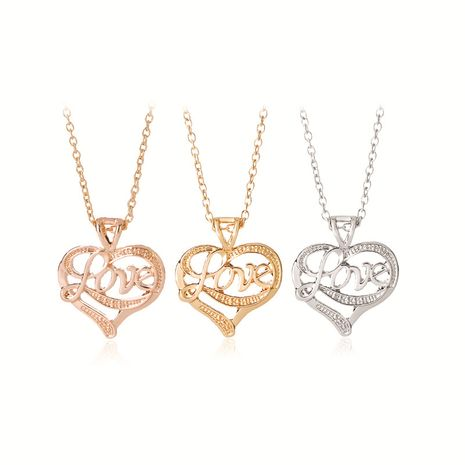 Heart Necklace Fashion Mother's Day Gift Letters Lone Sky Love Necklace Clavicle Chain wholesale nihaojewelry NHMO229262's discount tags