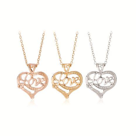Coeur collier mode fête des mères cadeau lettres solitaire ciel amour collier chaîne de clavicule en gros nihaojewelry NHMO229262's discount tags