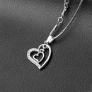 necklace clavicle chain fashion creative mothers day gift double love diamond necklace wholesale nihaojewelry NHMO229264