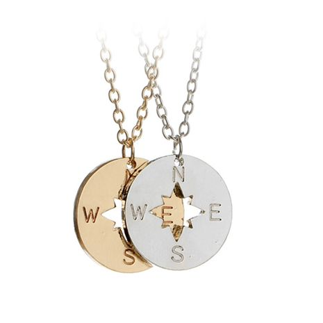 explosion models outdoor necklace creative fashion compass letter pendant necklace accessories wholesale nihaojewelry NHMO229276's discount tags