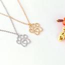 Collier Explosion Clavicule Chane Simple Creative Nouveau Creux Amour Chien Griffe Pendentif Collier en gros nihaojewelry NHMO229277