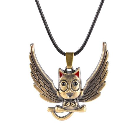explosion models owl necklace bird pendant clavicle chain fairy tail cute harpy pendant necklace wholesale nihaojewelry NHMO229280's discount tags