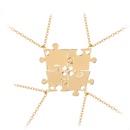 modle d39explosion puzzle collier quatre pices ensemble de puzzle cratif couture bon ami collier chane de clavicule accessoires en gros nihaojewelry NHMO229285