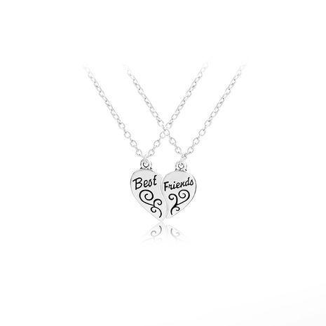explosion models drip pattern necklace letters good friends two petal splicing pendant necklace wholesale nihaojewelry NHMO229286's discount tags