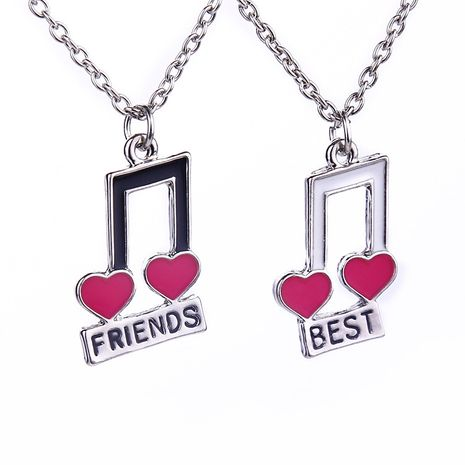 fashion jewelry good friend love note color stitching necklace hot sale wholesale nihaojewelry NHMO229289's discount tags
