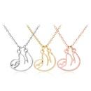 hollow animal bear koala necklace clavicle chain cute fun little sloth pendant necklace wholesale nihaojewelry NHMO229294