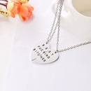 love drop oil alphabet necklace clavicle chain love splicing good friend necklace wholesale nihaojewelry NHMO229295