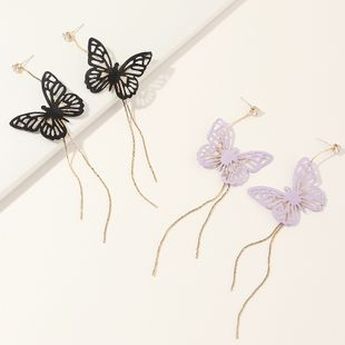 jewelry super fairy delicate butterfly long tassel earrings fashion trend earring wholesale nihaojewelry NHNZ229369's discount tags