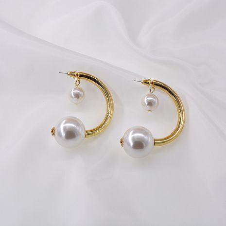 Visage rond perle exagérée cercle sens élevé boucles d'oreilles élégantes simple gros nihaojewelry NHNT229438's discount tags