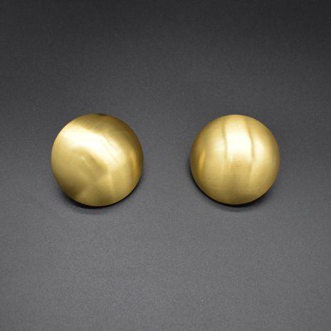 simple exagéré gros métal givré boucles d'oreilles rondes discothèque hipster rétro grandes boucles d'oreilles cool en gros nihaojewelry NHNT229458's discount tags