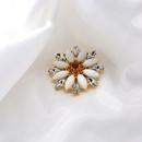 new diamondstudded flowers fashion brooch trendy daisy brooch wild clothing jewelry wholesale nihaojewelry NHNT229461