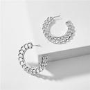 Jewelry popular jewelry geometric shape metal twist chain round earring wholesale nihaojewelry NHLU229494