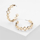 Jewelry popular jewelry geometric hollow metal chain earrings exaggerated large earrings wholesale nihaojewelry NHLU229495