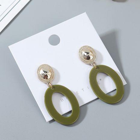 Boucles d'oreilles creuses en résine à la mode coréenne en gros nihaojewelry NHPS229523's discount tags