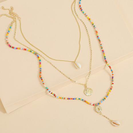 Bohème longue coquille de riz perles multi-couche collier tendance conque tissé pendentif bijoux NHLA229527's discount tags