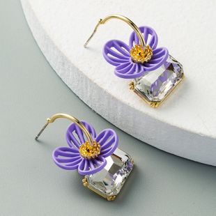 S925 silver needle wild small daisy sweet earrings new wave small flower earrings delicate earrings wholesale nihaojewelry NHLN229537's discount tags