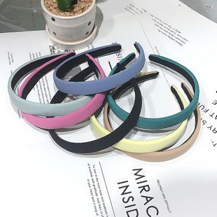 Korean sponge fruit color hairband simple solid color full headband wholesale nihaojewelry NHRH229603's discount tags
