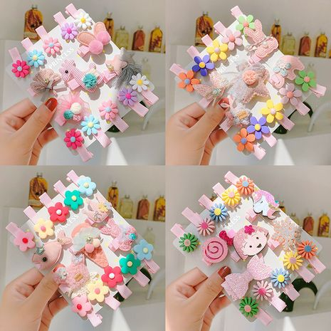Children's hairpin baby hair accessories girls headdress princess baby hairpin infants and young children do not hurt hair wrap cloth clip side clip NHNA229622's discount tags