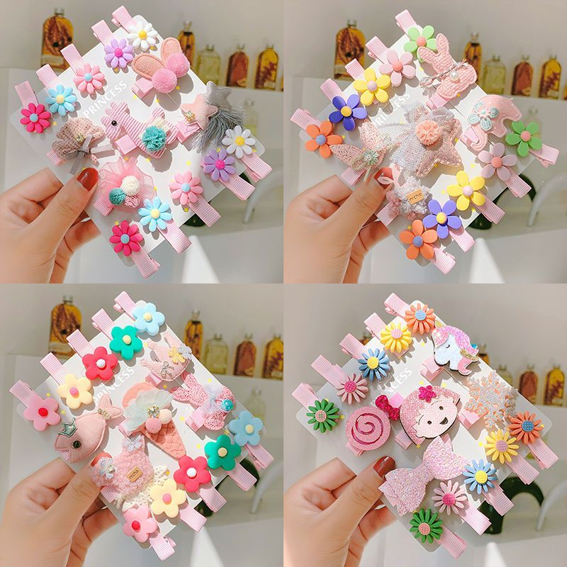 Children's hairpin baby hair accessories girls headdress princess baby hairpin infants and young children do not hurt hair wrap cloth clip side clip NHNA229622
