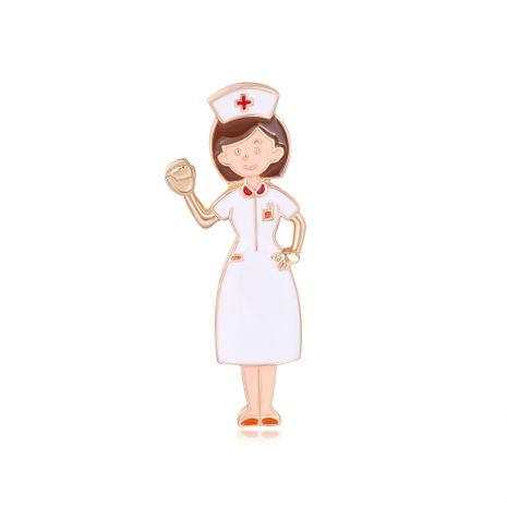 exclusivamente para la moda ramillete enfermera niña aceite gota broche venta caliente accesorios occidentales venta al por mayor nihaojewelry NHDR229631's discount tags