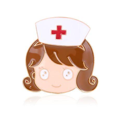 Nueva moda caliente broche de dibujos animados enfermera Cruz Roja goteando aceite broche al por mayor nihaojewelry NHDR229633's discount tags