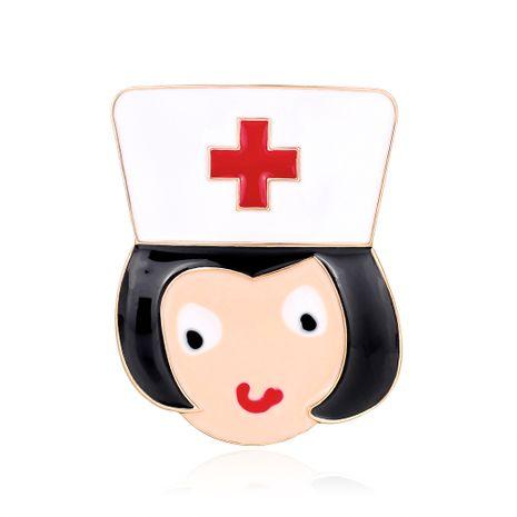 Nuevo broche de dibujos animados de moda enfermera Cruz Roja gota de aceite broche venta caliente accesorios occidentales venta al por mayor nihaojewelry NHDR229636's discount tags