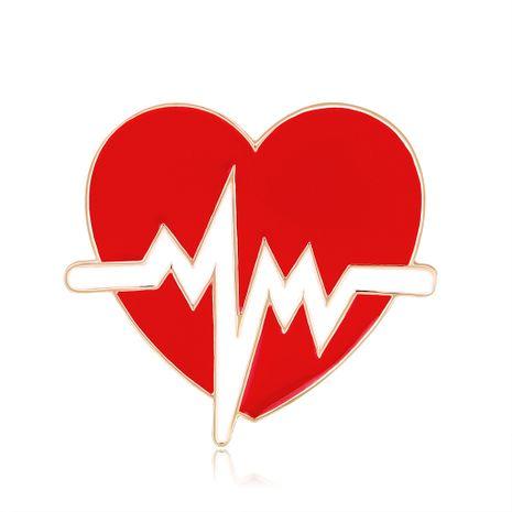 Nuevo ramillete ECG broche de gota de aceite durazno pin de corazón al por mayor nihaojewelry NHDR229637's discount tags