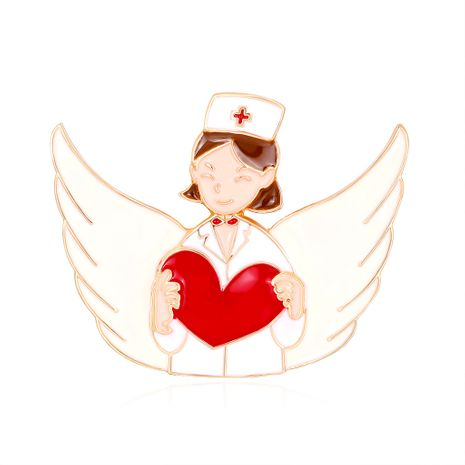 ramillete de dibujos animados de moda caliente amor enfermera ángel goteo broche venta caliente occidental accesorios venta al por mayor nihaojewelry NHDR229638's discount tags