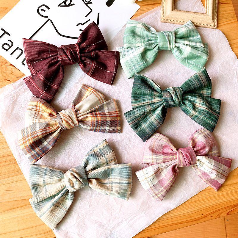 bow hair clip cute style skirt uniform fabric cute hair clip hair accessories bow tie wholesale nihaojewelry NHSA229640