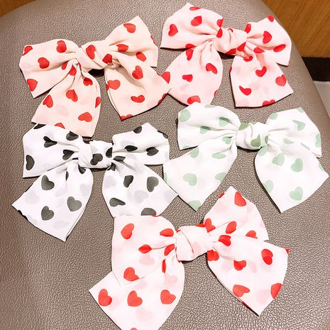 Bow Hairpin Horsetail Hairpin Headdress Love Heart Back Head Top Fairy Hair Accessories wholesale nihaojewelry NHSA229642's discount tags