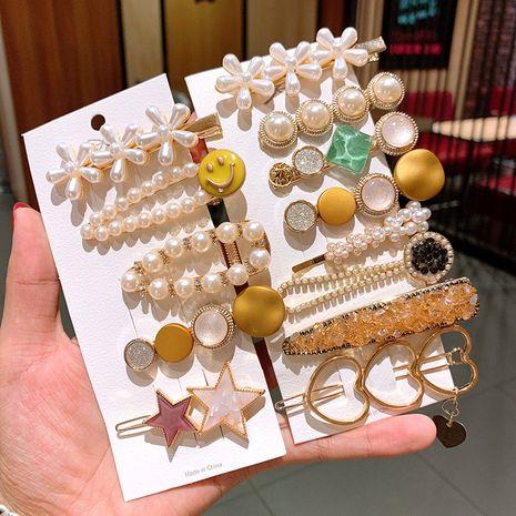 Corée Cristal Épingle À Cheveux Cheveux Carson Fée Super Fée Fille Coiffe Perle Top Clip en gros nihaojewelry NHSA229643's discount tags
