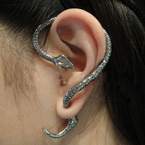 rétro exagéré serpentin enroulement boucle d'oreille clip boucles d'oreilles mode unilatéral crochet d'oreille bijoux en gros nihaojewelry NHMO229252's discount tags