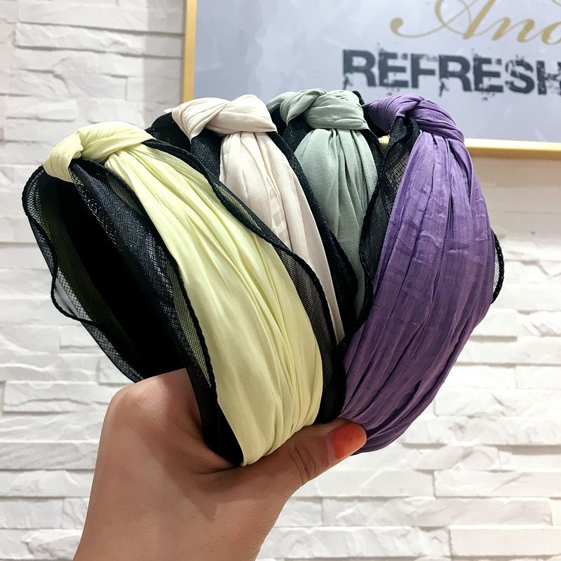 Korean simple stitching mesh gauze headband hair buckle hair accessories wholesale nihaojewelry NHHI229650