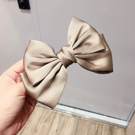 double-layer bow tie simple steel clip top clip hair ornament headdress wholesale nihaojewelry NHHI229653's discount tags