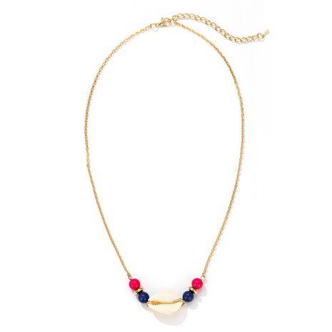 Simple nuevo estilo nacional color caramelo cuentas redondas moda natural concha colgante collar al por mayor nihaojewelry NHZU229660's discount tags