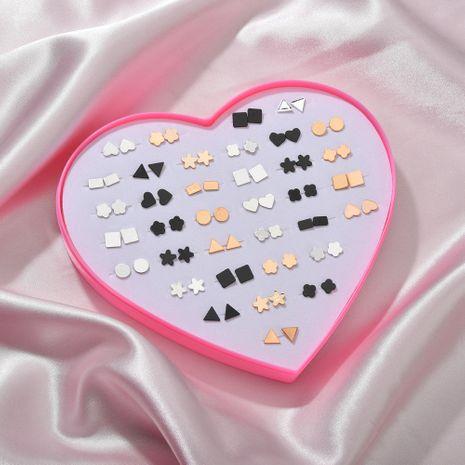 36 paires de boucles d'oreilles en plastique coréen en boîte aiment les boucles d'oreilles simples boucles d'oreilles ensemble combinaison bijoux en gros nihaojewelry NHZU229666's discount tags