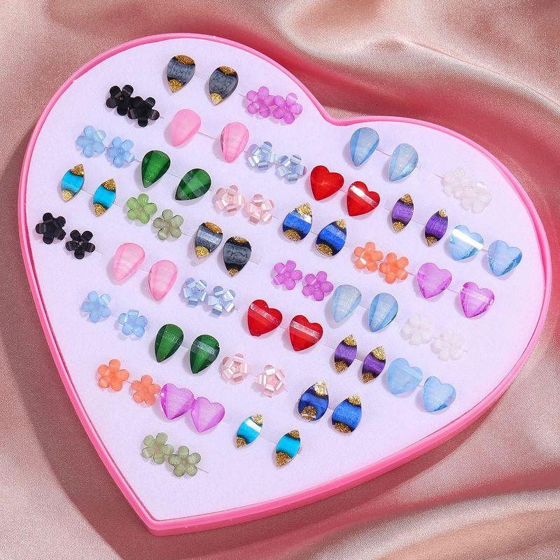 New creative earrings 36 pairs of love gift box earrings simple sweet small earrings jewelry wholesale nihaojewelry NHZU229684