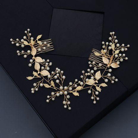 Korean wedding jewelry beautiful pearls wedding photography bride hair plug comb wholesale nihaojewelry NHHS229697's discount tags