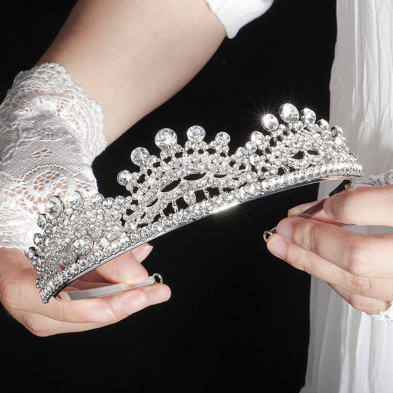 retro bride crown luxury baroque birthday crown wedding photography wedding wholesale nihaojewelry NHHS229698