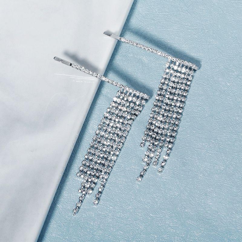 tassel hairpin trend rhinestone word clip fashion wedding bridal hair clips women NHHS229699