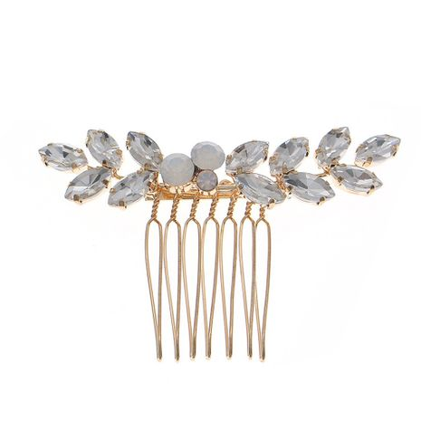 Simple small plug comb exquisite glass rhinestone plate hair accessories bride wedding dress head jewelry wholesale nihaojewelry NHHS229701's discount tags