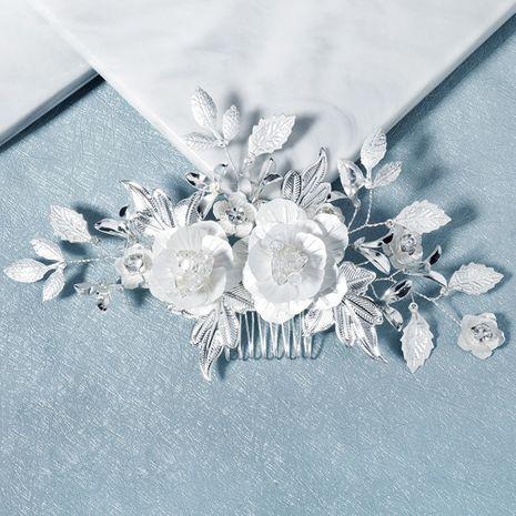 Korea wedding bride head flower rose flower hairdressing clothing plate hair plug comb wholesale nihaojewelry NHHS229703's discount tags