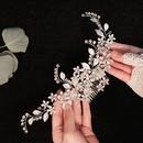 bijoux de mariage lgante marie coiffure cuivre fleur insr  la main costume plaque cheveux peigne en gros nihaojewelry NHHS229705