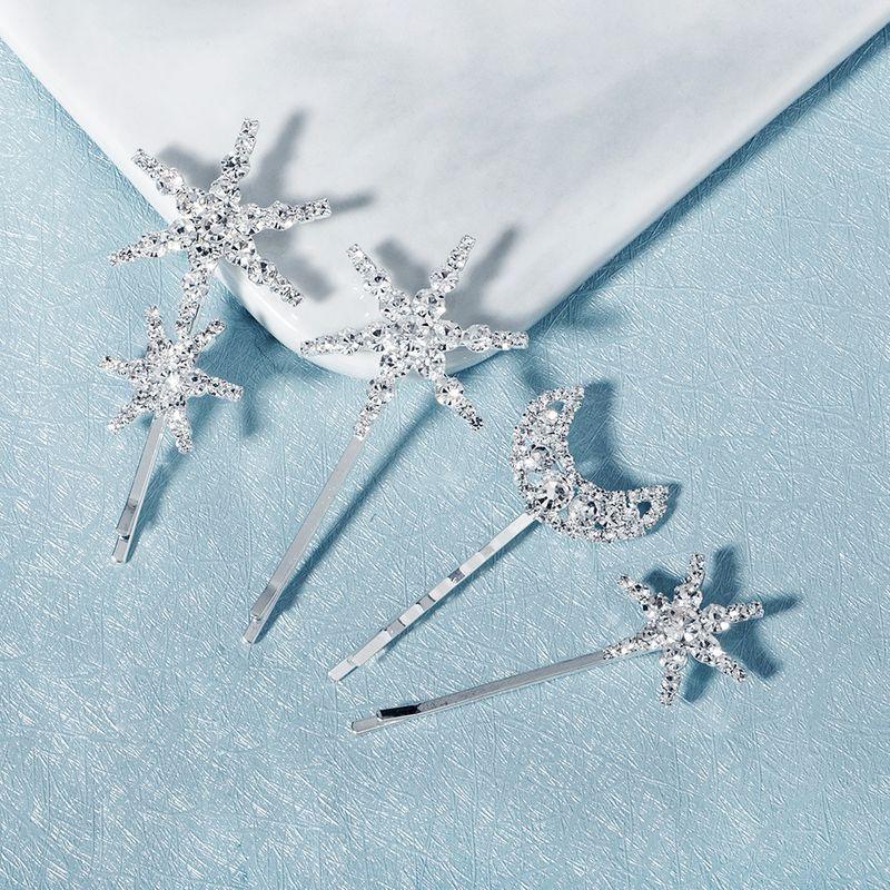 retro mooon star word clip rhinestone metal hairpin ins minimalist hairpin fashion wedding bridal hair clips women NHHS229708