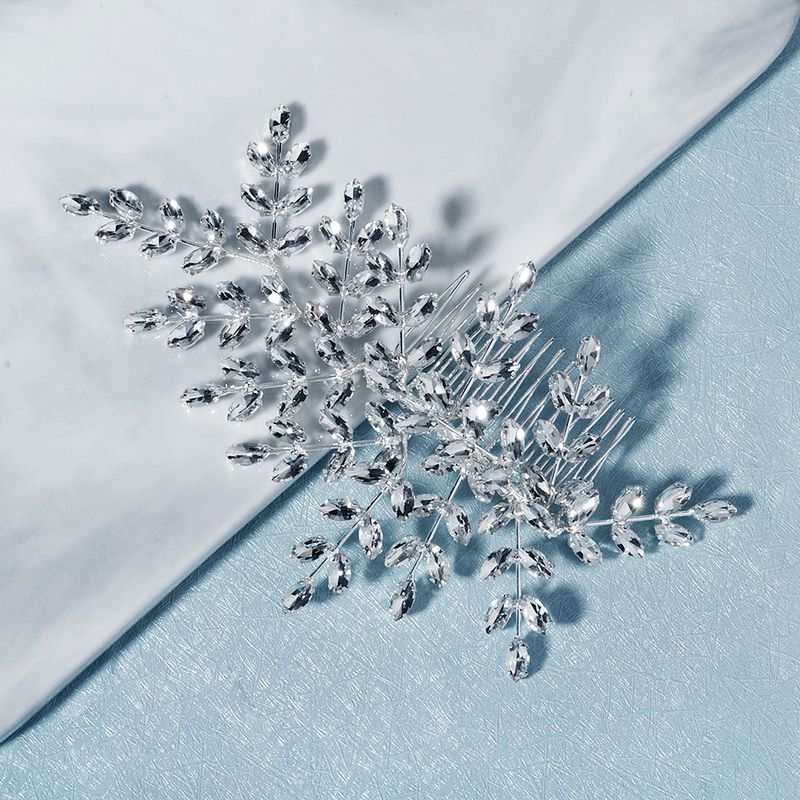 glass rhinestone side hair comb retro baroque branches inserted comb bride head jewelry wholesale nihaojewelry NHHS229709