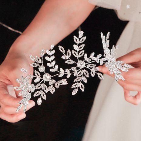 joyería de moda exagerada foto de estudio de boda lujo circón banda de cabello nupcial de diamante completo venta al por mayor nihaojewelry NHHS229710's discount tags